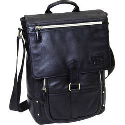 "Jill-E Designs Emma Leather Bag for 11"" Laptops/Tablets (Black)"