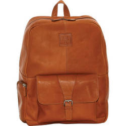 "Jill-E Designs JACK Hemingway 15"" Leather Backpack (Tan)"