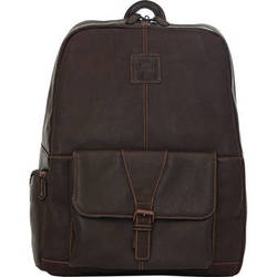 "Jill-E Designs JACK Hemingway 15"" Leather Backpack (Brown)"