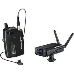 Audio-Technica ATW-1701/L System 10 Camera-Mount Digital Wireless System with Omni Lavalier Mic