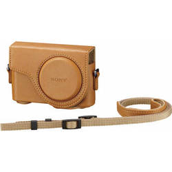 Sony Semi-Hard Carrying Case for Cyber-shot DSC-WX300 Digital Camera (Light Brown)