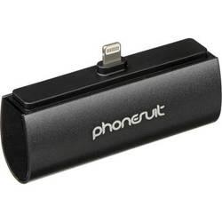 PhoneSuit Flex XT Pocket Charger for iOS Lightning Devices (Black Metallic)