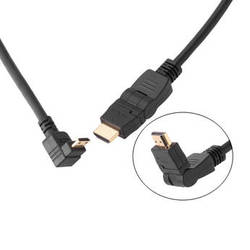 Pearstone 1.5' Swiveling HDMI to Right-Angle Mini HDMI Cable