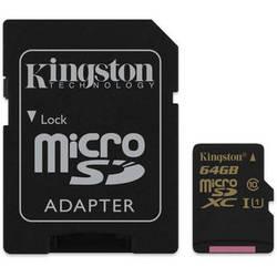 Kingston 64GB SDCA10 UHS-I microSDHC Memory Card (Class 10)