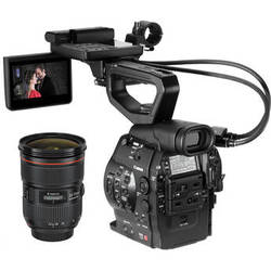 Canon Cinema EOS C300 Camcorder Body with Dual Pixel CMOS AF and 24-70mm f/2.8L II USM Lens (EF Lens Mount)