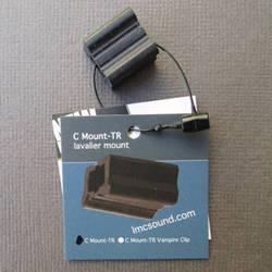 LMC Sound C Mount-TR Lavalier Clip for Tram TR50, Sonotrim and Oscar Tech 801/802 (Black)