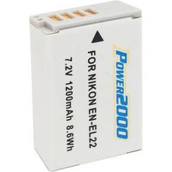 Power2000 EN-EL22 Rechargeable Lithium-Ion Battery Pack (7.2V, 1200mAh)