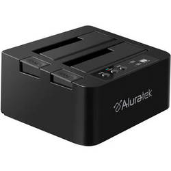 Aluratek USB 3.0 Superspeed Dual Bay External SATA Hard Drive Duplicator