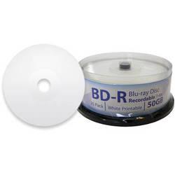 Digistor 50GB BD-R 6x Inkjet Printable Blu-ray Discs (Spindle, 25-Pack)