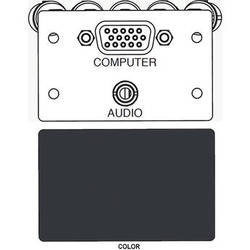 FSR IPS-AV921D A/V HD-15 to 5-BNC & 3.5mm Stereo to Solder Cup Insert (Labeled, Black)