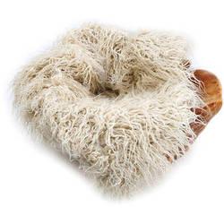 "Custom Photo Props  Faux Fur Newborn Photo Prop (Eggshell Curly Sheep, 36 x 62"")"