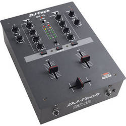 DJ-Tech DIF-1SV2 2-Channel DJ Mixer (Black)