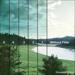 """Tiffen 6.6 x 6.6"""" 4 Cyan Soft-Edge Graduated Filter"""