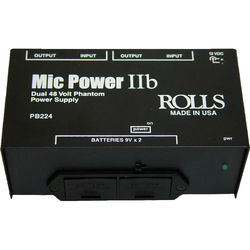 Rolls PB224 - 2 Channel Portable Phantom Power Supply