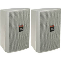 JBL Control 23 Ultra Compact Indoor/Outdoor Monitor (Pair, White)