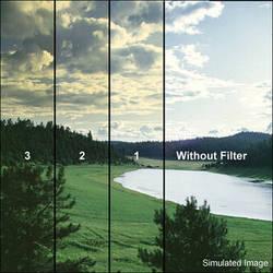"""Tiffen 6 x 6"""" 1 Straw Soft-Edge Graduated Filter"""