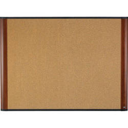 "3M C4836MY 48 x 36"" Cork Board (Mahogany Finish Frame)"