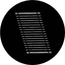 Rosco Steel Gobo #7717 - Oblique Blinds - Size M