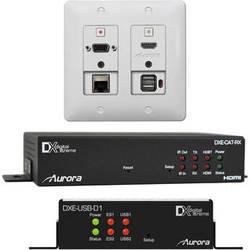 Aurora Multimedia 2 Input HDBaseT Wall Plate Bundle (White)