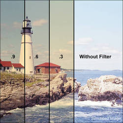 """LEE Filters 3x3"""" Combination 85B Amber / ND 0.9 Polyester Filter"""