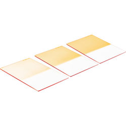 "LEE Filters 4x6"" Coral Graduated Resin Filter Set (2, 4 & 6) Hard Edge"