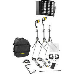 Dedolight DLED4.1/Felloni 2x1 Daylight 3-Light Basic Kit (Mains Operation)