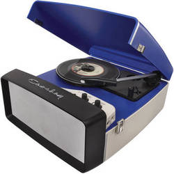 Crosley Radio Collegiate Portable Turntable with USB and Recording Software (Blue)