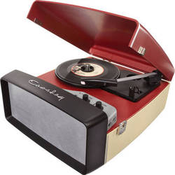 Crosley Radio Collegiate Portable Turntable with USB and Recording Software (Red)