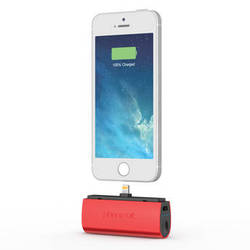 PhoneSuit Flex XT Pocket Charger for iOS Lightning Devices (Red Metallic)