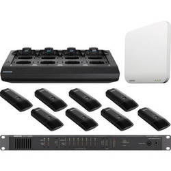 Shure 8-Channel MXW Microflex Wireless Boundary Mic Conference Audio System Kit