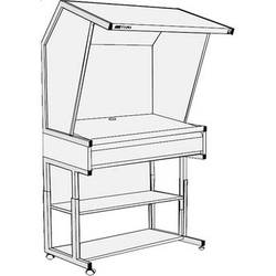 GTI CVX-3052/DS/FS/1F Color Viewing Station with Floor Stand and Deep File Drawer