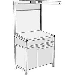 GTI EVS-2540/TS/SC Executive Viewing Station with Table Stand and Storage Cabinet
