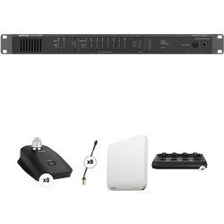 "Shure 8-Channel Wireless 10"" Gooseneck Microphone & Audio Distribution System"