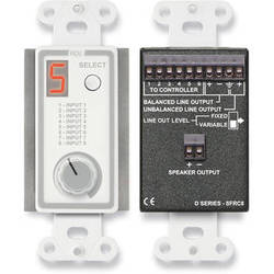 RDL D-SFRC8 Room Control Station for SourceFlex Distributed Audio System (White)