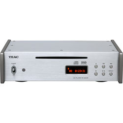 Teac CD Player with 5.6MHz DSD Playback (Silver)