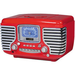 Crosley Radio CR612 Corsair Clock Radio (Red)