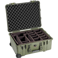 Pelican 1564 Waterproof 1560 Case with Dividers (Olive Drab Green)