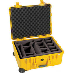 Pelican 1564 Waterproof 1560 Case with Dividers (Yellow)