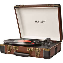 Crosley Radio Executive Portable Turntable with USB and Recording Software (Brown)