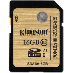 Kingston 16GB SDHC 300X Class 10 UHS-1 Memory Card