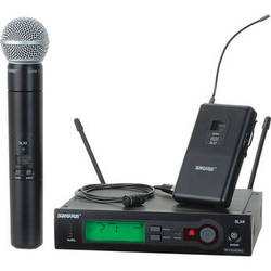 Shure SLX Series Wireless Microphone Combo System (G5: 494-518 MHz)