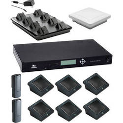 Revolabs Executive Elite 8 Channel Wireless System with 6 Directional Microphones & 2 Wearable Microphones