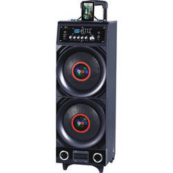 "QFX PBX-3011BT Dual 10"" Battery Powered PA Speaker"