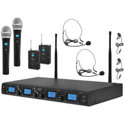 Pyle Pro PDWM4350U - 4-Channel Wireless System