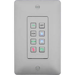 Aurora Multimedia DXB-8 1-Gang 8-Button Wall Plate Controller (White)