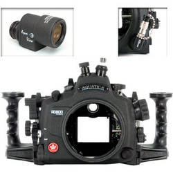 Aquatica AD800 Underwater Housing for Nikon D800 or D800E with Aqua VF and Vacuum Check System (Optical and Nikonos Strobe Connectors)