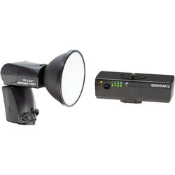 Quantum Qflash TRIO Basic Flash Kit with Turbo Blade Battery Pack for Canon Cameras