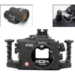 Aquatica A70D Underwater Housing for Canon EOS 70D with Aqua VF and Vacuum Check System (Dual Nikonos Strobe Connectors)