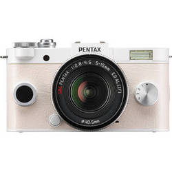 Pentax Q-S1 Mirrorless Digital Camera with 5-15mm Lens (Pure White)
