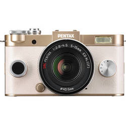 Pentax Q-S1 Mirrorless Digital Camera with 5-15mm Lens (Champagne Gold)